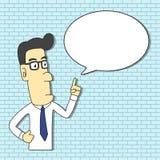 Manlig yrkesmässig instruktör Cartoon vektor illustrationer