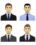 Manliga affärssymboler Arkivbilder