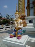 Manliga Angel Statue Fotografering för Bildbyråer