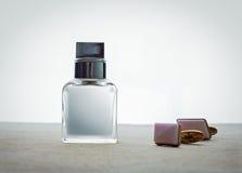 Manliga doft och cufflinks Fotografering för Bildbyråer