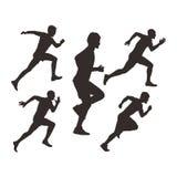 Manliga löpareillustrationer för fri vektor royaltyfri illustrationer