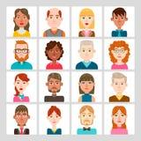 manliga 16 och kvinnlig avataruppsättning Arkivfoto