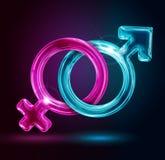 Manliga och kvinnliga genussymboler Royaltyfria Foton