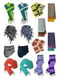 Manliga scarves Arkivbild