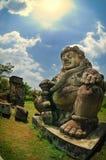 Manligt diagram av den Dwarapala statyn Royaltyfri Fotografi