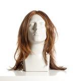 Manligt huvud för skyltdocka med peruken Royaltyfria Bilder