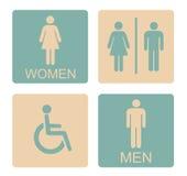 Manligt kvinnligt ogiltigt för WC-symbol Royaltyfri Bild