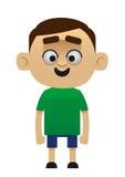 Manligt lyckligt barn för tecknad filmtecken Fotografering för Bildbyråer