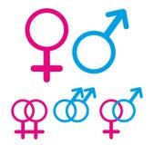 Manligt och kvinnligt symbol Arkivfoto