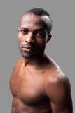 Manligt och muskulöst. Arkivfoto