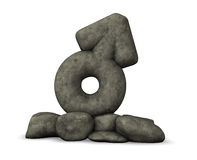 Manligt symbol för sten på vit bakgrund Royaltyfria Foton