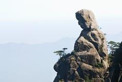 manlike гора утесистая Стоковая Фотография
