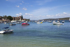 MANLY, AUSTALIA-DECEMBER 08 2013: Boats moored in Manly Cove. Ma Stock Image