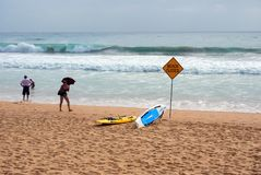 Manly Beach Closed For Heavy Surf, Australia Royalty Free Stock Image