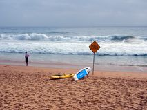 Manly Beach Closed For Heavy Surf, Australia Stock Images