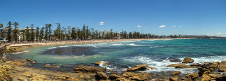 Manly Beach Panorama Stock Images