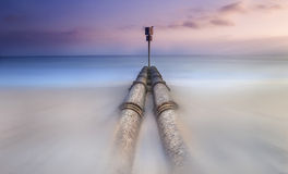 Manly Beach Storm Water PIPES Royalty Free Stock Photos