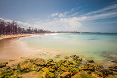 Manly beach on sunny day, Australia - long exposure Royalty Free Stock Photos