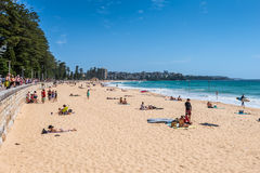 Manly beach on sunny day, Australia. Royalty Free Stock Image