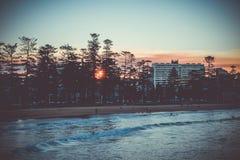 Manly Beach at sunset, Sydney, Australia. Manly Beach at sunset, Sydney, New South Wales, Australia Stock Photos