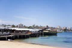 Manly beach in Sydney Australia Royalty Free Stock Photography