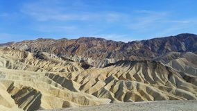 Manly Beacon view in Death Valley with clear blue sky. Stock Photo