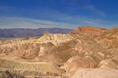 Manly beacon at Zabriskie point. In Death Valley National Park, California Royalty Free Stock Images