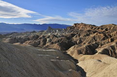Manly Beacon, Zabriskie Point, Death Valley. The Ridge of Manly Beacon and various Badland formations Stock Images