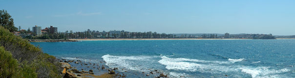 Manly coastline Royalty Free Stock Images