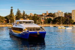 Manly Fast Ferry boat in Sydney Stock Photos