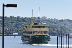 Manly Ferry Narrabeen. The iconic Manly Ferry Narrabeen as it leaves Circular Quay, Sydney, on its journey towards Manly Royalty Free Stock Image