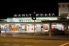 Manly hamnplats, Australien Royaltyfri Foto