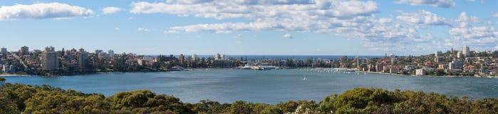 Manly hamnplats panorama- Australien - Royaltyfri Fotografi