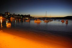 Manly Harbour at Dusk Stock Image