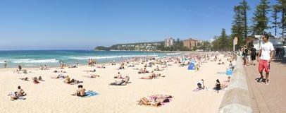 manly panorama för strand Royaltyfri Bild
