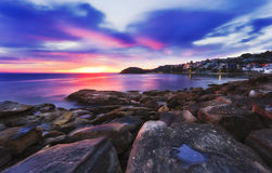 Manly Rocks Dark Rise Royalty Free Stock Photos