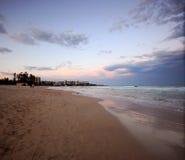 Manly strand Arkivbild