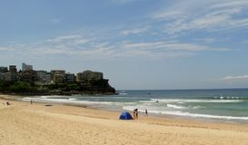 Manly strand Royaltyfria Bilder