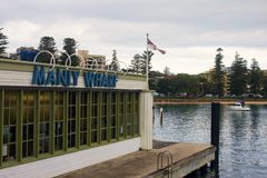 MANLY-SYDNEY, AUSTRALIA - DECEMBER 10, 2014: Manly Wharf near. SYDNEY, AUSTRALIA  - DECEMBER 10, 2014: Manly Wharf near Sydney on 10 December 2014 in Sydney Royalty Free Stock Photo