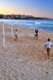 Manly Volley. People enjoying their time, playing volleyball in manly beach. This beach is located in the northern beach of sydney Royalty Free Stock Photos