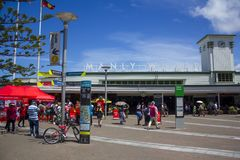 Manly Wharf ferry terminal in Sydney, Australia Royalty Free Stock Image