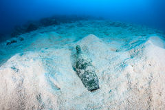 Manmade pollution - Garbage on the seafloor Stock Images