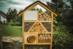 Manmade structure Insect Hotel royalty free stock images