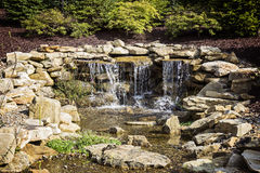 Manmade Waterfall Water Feature Stock Photography