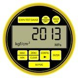 Manómetro digital moderno del Año Nuevo 2013 Fotografía de archivo libre de regalías
