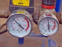 Manómetros Fotos de Stock Royalty Free