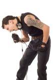 manmikrofon Fotografering för Bildbyråer