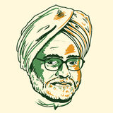 Manmohan Singh portrait Royalty Free Stock Photo