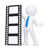 Mann 3d, der einen Film anhält Stockbilder