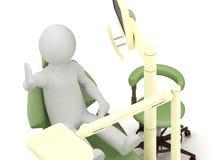 Mann 3d im zahnmedizinischen Büro Lizenzfreies Stockfoto